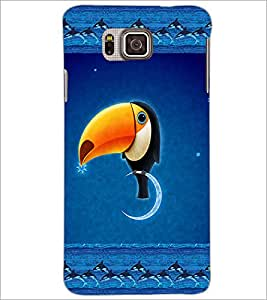 PrintDhaba Funny Image D-4136 Back Case Cover for SAMSUNG GALAXY ALPHA (Multi-Coloured)