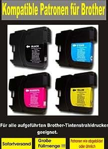 P4L - 8 cartouches XL = 2 Set pour Brother compatible LC 1240 LC 1280 BK / C / M / y. Convient pour les appareils suivants J825DW Brother MFC MFC MFC J6910DW J6710DW J6510DW MFC MFC MFC J430W J625DW J925DW DCP DCP DCP J525W J725DW