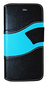 Exian Multifunctional Cell Phone Case for iPhone 6 Plus - Retail Packaging - Black & Blue