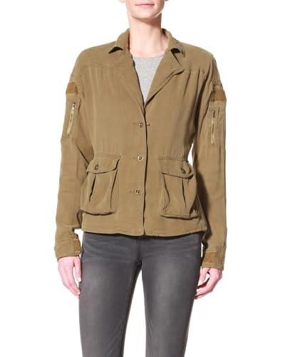 DA-NANG Women's Notch Collar Jacket  - Aloe