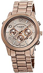 Akribos XXIV Women's AK648RG Ultimate Swiss Multifunction Rose-Tone Bracelet Watch
