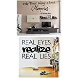 Decor Kafe Decal Style REALIZE Quote & Memories Wall Decal Size - 38*16 Inch Color -Black Buy 1 Get 1
