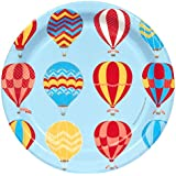 Hot Air Balloon Party Up, Up and Away Dessert Plates (8)