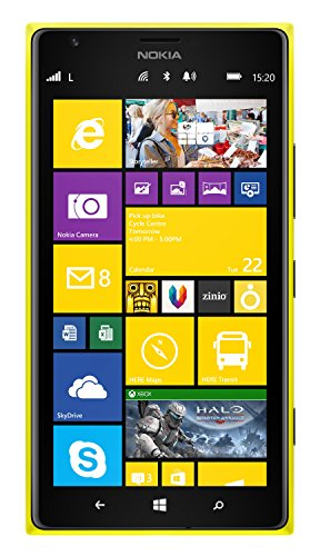Nokia Lumia 1520 16GB Unlocked GSM 4G LTE Windows Smartphone w/ 20MP Camera & PureView Technology - Yellow (No Warranty) (Nokia Lumina 900 Factory Unlocked compare prices)