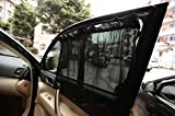 Mercury 車載日除け オシャレなカーテン 車用 サンシェード ブラック 日よけ 紫外線 カット 内装 快適 2枚セット