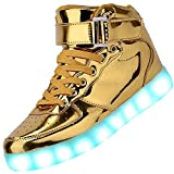 Helen's Pinkmartini 7 Colors Light Shoes High Top Sports Sneakers For Men,11 D(M) US,Gold