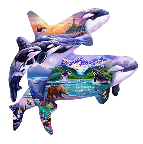 Orca Habitat Shaped Jigsaw Puzzle by Sunsout Inc.
