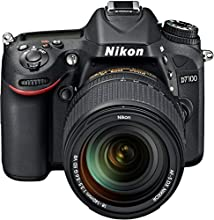 "Nikon D7100 - Cámara réflex digital de 24.1 Mp (Pantalla 3.2"", estabilizador óptico, vídeo Full HD), negro - kit cuerpo con objetivo 18-140 mm VR"