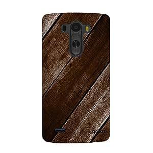 Gobzu Printed Back Covers for LG G3 - Wood Dark Brown