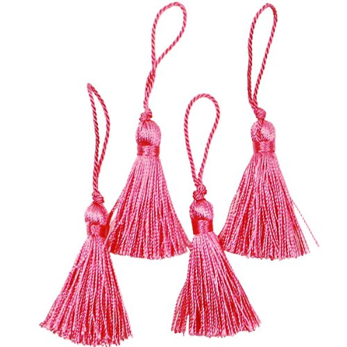 Lowest Prices! Expo Mini Fiber Tassel, Fuchsia, 4-Pack