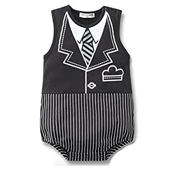Newborn Baby Boy Romper Rompers Tuxedo All-in-one Suit Bowtie Bodysuit Set