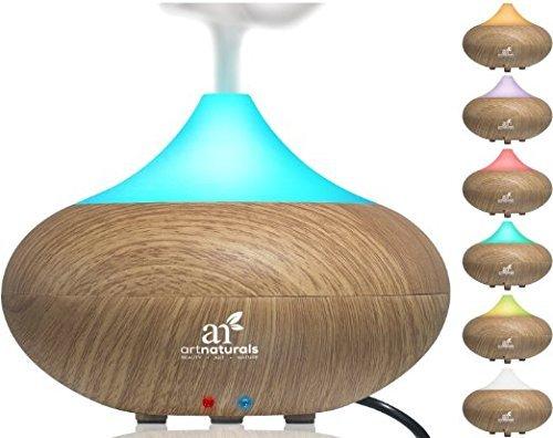 Art Naturals Luftbefeuchter für ätherische Öle | Bester Elektrischer Kühlender Aroma Diffuser | Automatische Funktion & 7 Farben LED Licht Farbspiel | Wellness für Büro & Haushalt