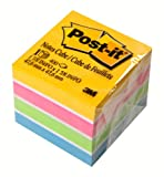 Post-it® Notes, Original Cube, 1 7/8 inches x 1 7/8 inches, Assorted Neon and Ultra Colors, One Pad per Pack