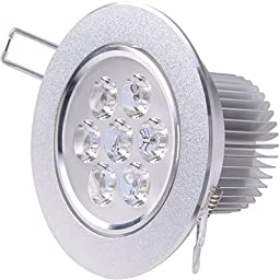 Revesun 12PCS 7W Ceiling Light Downlight Spotlight Recessed Lighting Fixture Adjustable Gimbal Down Light Led