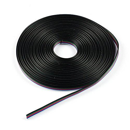 Supernight 5M Rgbw Rgbww Extension Cable Line For 5050 Rgbw Rgbww Led Strip 5Pin Rgb White Rgb Warm White Strip Cord Wire -16.4Ft