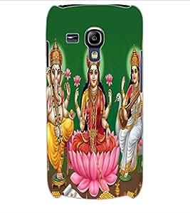 ColourCraft Lords Ganesha Maa Laxmi and Maa Saraswati Design Back Case Cover for SAMSUNG GALAXY S3 MINI I8190