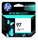 Original HP 97 Large Tri-color Ink Cartridge in Retail Packaging