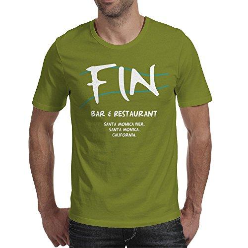 Fin Bar And Restaurant - Sharknado Mens T-Shirt Olive / Large (Sharknado Fin)