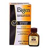 Bigen Permanent Powder Hair Color 57 Dark Brown 1 ea (Pack of 12) (Color: Dark Brown, Tamaño: Pack of 12)