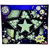 Simba 107826755 - Pack de 150 estrellas brillantes en la oscuridad [importado de Alemania]