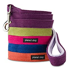 Planet Dog 5\' Natural Hemp Leash with Fleece Lined Handle, Pink