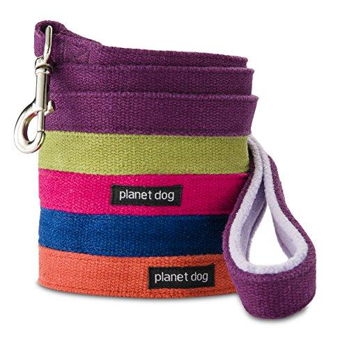 Planet Dog Hemp Dog Leash with Fleece-Lined Handle, Blue, Regular picture