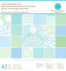Martha Stewart Crafts Paper Pad, Doily Lace, 42 Sheets, 12 by 12 inches