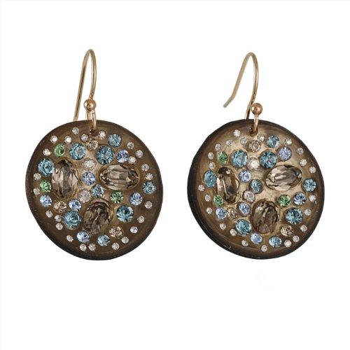 ALEXIS BITTAR - Blue Dust Disc Earrings