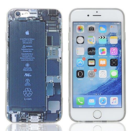 T-Crystal / iphone6s ケース / iphone 6s ケース / iphone6sケース / iphone6s ケース / ストラップホール付  スケルトン柄ケース Case for iphone6s クリアケース 4.7 inch / スケルトンデザインケース / iphone6s 用ストラップホール付保護ケース 保護カバー / TCIP6SCSK