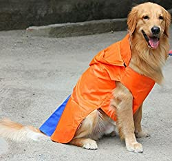 DogSpot Hooded Raincoat Orange Size -14
