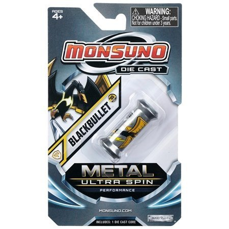 Monsuno Die Cast Metal Ultra Spin Core Blackbullet - 1
