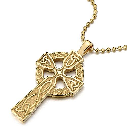 or couleur croix celtique pendentif collier homme femme acier inoxydable noeud celtique. Black Bedroom Furniture Sets. Home Design Ideas