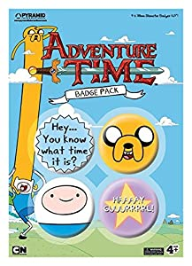 Official Adventure Time Badge Pack (Set of 4 x 38mm Pin Button Badges)