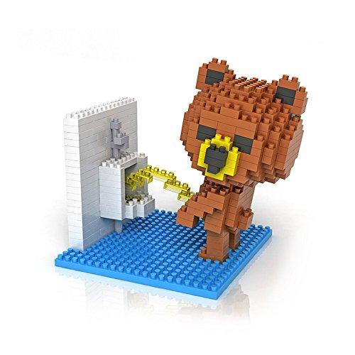 LOZ Brown Bear Peeing Diamond Blocks Nanoblock 350pcs