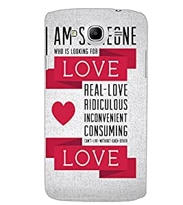 SAMSUNG GALAXY MEGA 5.8 LOVE TEXT Back Cover by PRINTSWAG