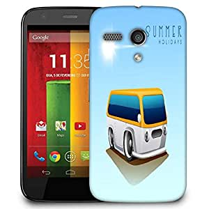 Snoogg Summer Holidays Background With Caravan Designer Protective Phone Back Case Cover For Motorola G / Moto G