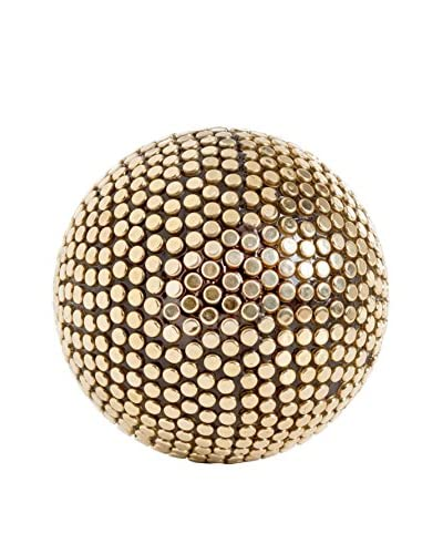 Torre & Tagus Gold Studded Décor Ball, Large