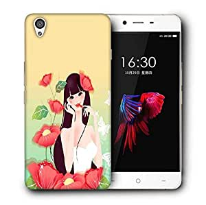 Snoogg Cute Girl Printed Protective Phone Back Case Cover For OnePlus X / 1+X