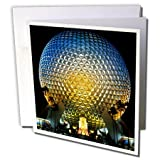 3dRose 8 x 8 x 0.25 Inches Florida, Orlando. Epcot Center at Walt Disney World Bill Bachmann Greeting Cards, Set of 6 (gc_89024_1)