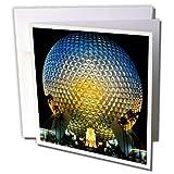 3dRose 8 x 8 x 0.25 Inches Florida, Orlando. Epcot Center at Walt Disney World Bill Bachmann Greeting Cards, Set of 6 (gc_89024_1)