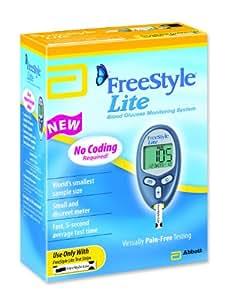 FreeStyle Lite Blood Glucose Monitoring System Diabetic Meter Kit