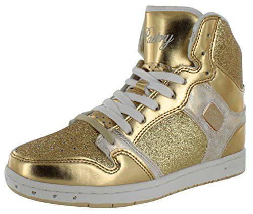 Pastry Glam Pie Glitter Women's Hightop Shoes Sneakers Gold Size 8 (Glam Pie Sneakers compare prices)