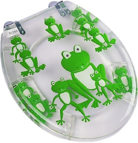Green Frog Resin Toilet Seat