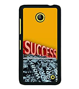 printtech Cool Quotes Success Back Case Cover for  Nokia Lumia 630 3G