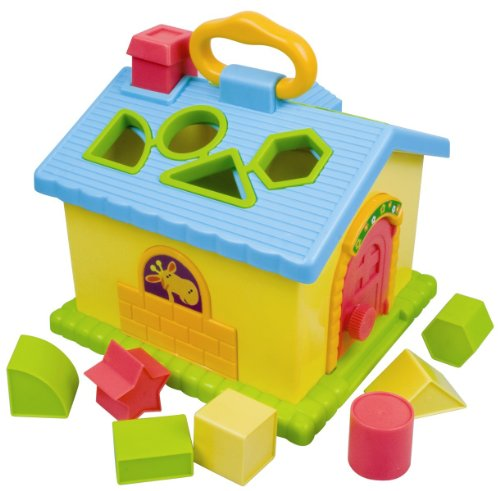 Redbox Carry Along Shape Sorter House Carry Handle Travel Toy Baby Toddler Play