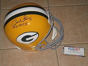 Bart Starr #15 signed Green Bay Packers HOF Full Size Helmet TRISTAR FS SB MVP by Riddell