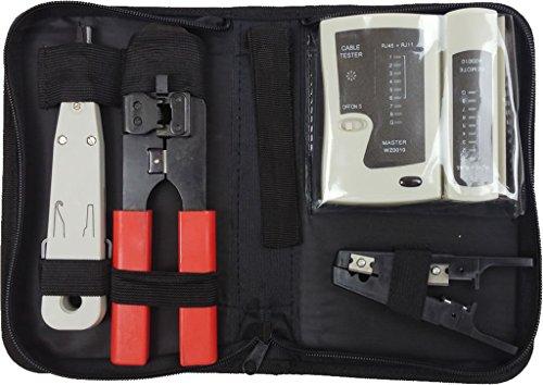 faconet netzwerk werkzeug set tasche f r professionelle kabel verlegung inkl netzwerk kabel. Black Bedroom Furniture Sets. Home Design Ideas