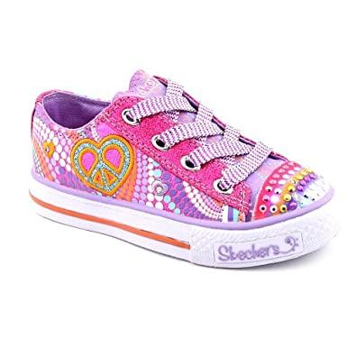 4e1d300a39a7 Skechers Twinkle Toes S Lights Heart Sparks Lighted Sneaker (Toddler Little  Kid Big Kid)