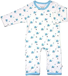 Babysoy Organic Pattern One Piece (Baby) - Whale-12-18 Months