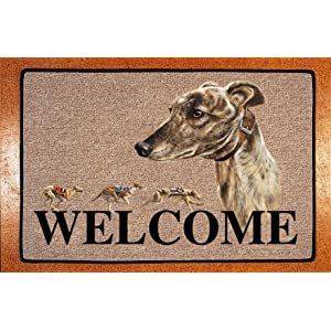 Greyhound door mat picture